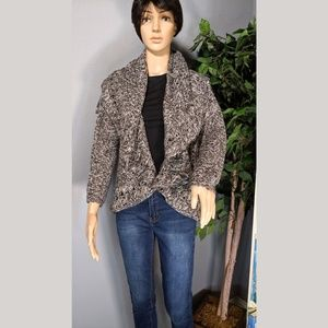 NEW DIRECTIONS | Open Front Crochet Knit Cardigan